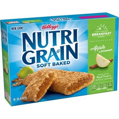 Kellogg's Nutri-Grain Soft Baked Apple Cinnamon Cereal Bars, 10.4 oz, (Pack of 12)