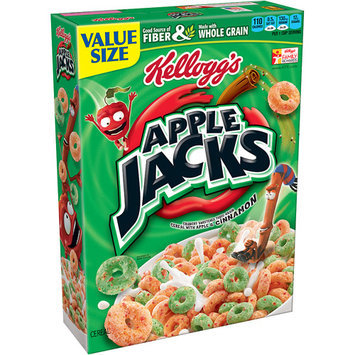 Kellogg's Apple Jacks Cereal, 12.2 oz, (Pack of 3)