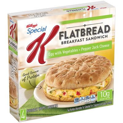 Special K® Kellogg's Vegetable & Pepper Jack Cheese Flatbread Breakfast Sandwich