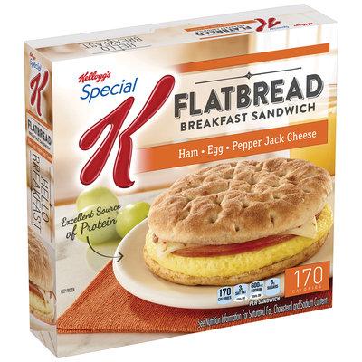 Special K® Kellogg's Kellogg Ham, Egg & Pepper Jack Cheese Flatbread Breakfast Sandwich