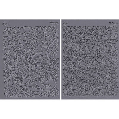 JHB 462880 Lisa Pavelka Stamp Set 4.25 in. x 5.5 in. Sheets 2-Pkg-Flow-Foliage & Paisley