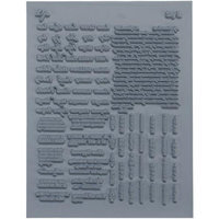 Lisa Pavelka Individual Texture Stamp 4.25X5.5 1/Pkg-Say It