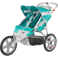 Instep Flash Double Jog Stroller -Green & Gray Green/gray