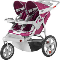 Instep Safari Double Jog Stroller - Maroon with Gray