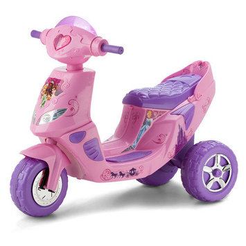 Pacific Cycle Kid Trax Disney Princess 6V Twinkling Tiara Scooter - Pink