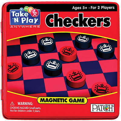 Patch Products Take 'N' Play Anywhere Checkers - 2