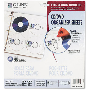 C-line Products, Inc CLI61948 - C-line Deluxe CD Ring Binder Storage
