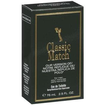 Classic Match Eau De Toilette For Men Spray Perfume, Our Version Of Polo 2.5 fl oz