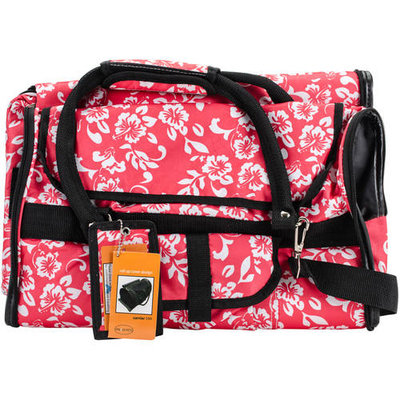 Prefer Pets Covered Pet Carrier in Hawaiian Flower