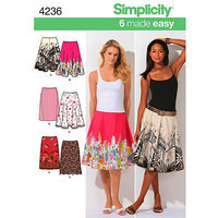 Simplicity Made Easy Sew Skirts Dressmaking Leaflet, 4236
