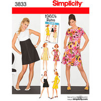 Simplicity Pattern Misses'/Miss Petite Dress, (6, 8, 10, 12, 14)