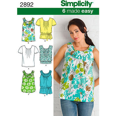 Simplicity 6 Made Easy Tops Dressmaking Leaflet, 2892, H5