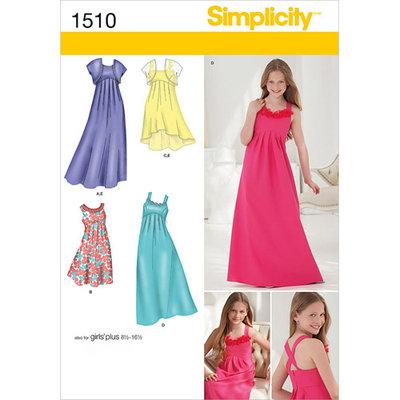 Simplicity Children Dressmaking Leaflet, 1510