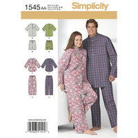 Simplicity Unisex Nightwear Sewing Leaflet, 1545