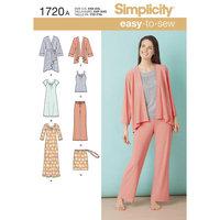 Simplicity Misses' Knit Sleepwear (XXS - XXL)