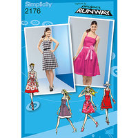 Simplicity Project Runway Dresses Dressmaking Leaflet, 2176, D5