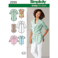 Simplicity Easy to Sew Tunic or Shirt Sewing Leaflet, 2255