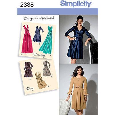 Simplicity Special Occasion Dresses Dressmaking Leaflet, 2338