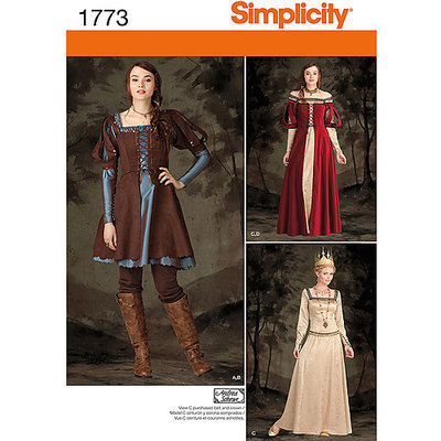 Simplicity Pattern Misses' Costume, (14, 16, 18, 20, 22)