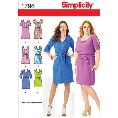 Simplicity Pattern Misses' Dresses, (20W-28W)