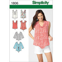 Simplicity Pattern Misses' Tops/Vests, (16, 18, 20, 22, 24)