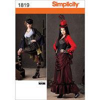 Simplicity Costume Dressmaking Leaflet, 1819