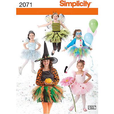 Simplicity Children Costume Dressmaking Leaflet, 2071, K5