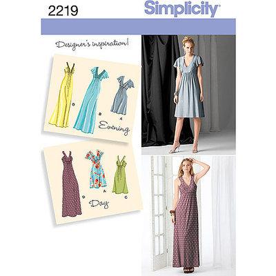 Simplicity Special Occasion Dresses Dressmaking Leaflet, 2219