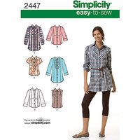 Simplicity Easy to Sew Tops Sewing Leaflet, 2447, U5