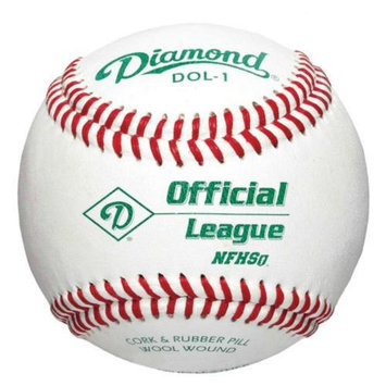 Diamond Sports DOL-1 NFHS Approved Official League Baseball by the Dozen