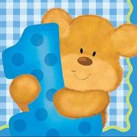 Creative Converting Bears 1st Birthday Boy Beverage Napkins