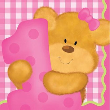 Creative Converting Bears 1st Birthday Girl Beverage Napkins