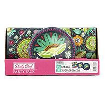 Daily Chef Flowers on the Pond Snack Plates and Luncheon Napkins (150ct.)