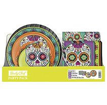 Daily Chef Decorative Skulls Party Pack Plates and Napkins (200 ct.)