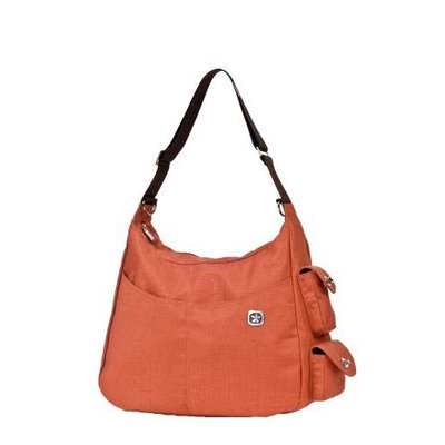 Fleurville Re-Run Hana Diaper Bag, Orange (Discontinued by Manufacturer)