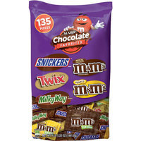Mars Chocolate Favorites Fun Size Candy Variety Pack, 135 count, 69.2 oz