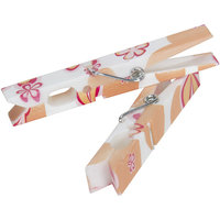 Household Essential Modern Floral Plastic Clothespin (Pack of 14)