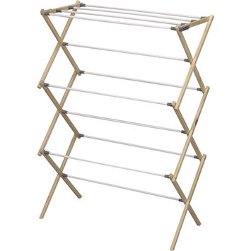 Pine Wood Foldable Drying Rack by Household Essentials