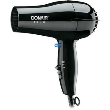CONAIR 247BW, Hairdryer, Handheld, Black, 1875 Watts
