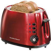 Hamilton Beach 2-Slice Metal Toaster in Red 22524E