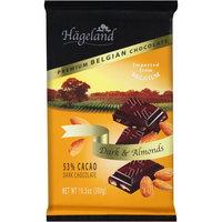 Hageland Premium Belgian Dark Chocolate & Almonds, 10.5 oz