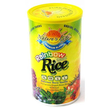Rainbow Rice Protein Berry Vanilla Nature's Life 1 lb Powder