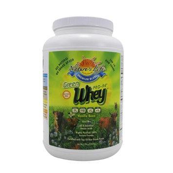 Nature's Life Green-Whey Pro-96 Vanilla - 3 lbs