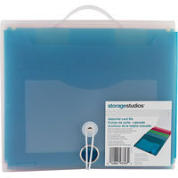 Advantus CH93393 Storage Studios Waterfall Card File-1.5 in. X10.5 in. X9.25 in. - Closed Teal