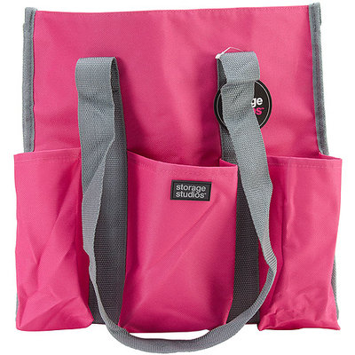 Advantus CH93398 Storage Studios Shoulder Tote-6 in. X14 in. X14.5 in. Pink & Gray