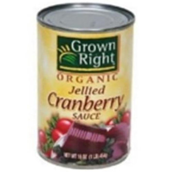 GROWN RIGHT Organic Jellied Cranberry Sauce 16 OZ