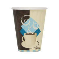 SOLO Cup Company Duo Shield Insulated Paper Hot Cups, Paper, 8oz, Tuscan Design, 1000/Carton