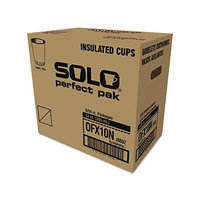SOLO Cup Company Symphony Design Trophy Foam Hot/Cold Drink Cups, 10oz, 300/Carton