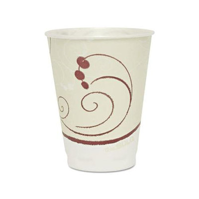 SOLO Cup Company Symphony Design Trophy Foam Hot/Cold Drink Cups, 12oz, 300/Carton