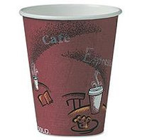 SOLO CUP COMPANY 8BI0041 Paper Hot Cup 8 oz. 500/CT Marron